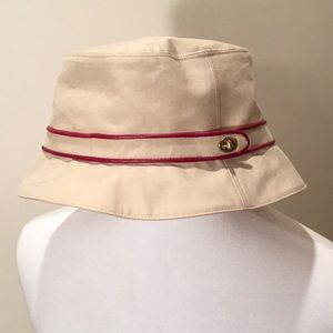 Coach hat with leather trim NEW without tags